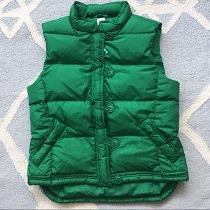 J.Crew / Kelly Green Puffer Vest / Large